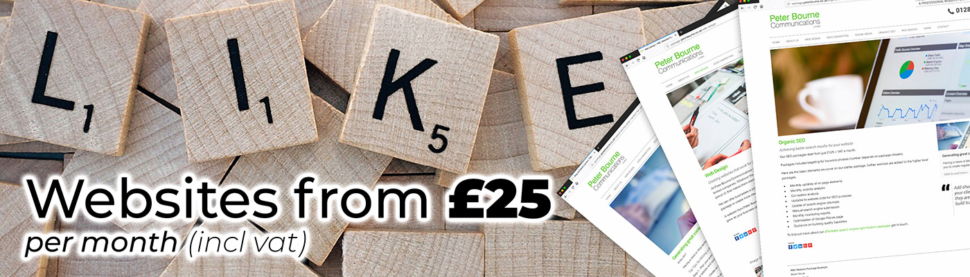 Budget websites from £25 per month