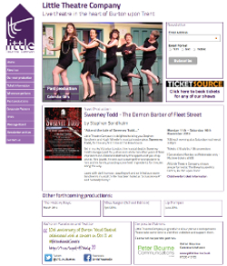 Little Theatre Company from Burton upon Trent - designed and developed by Peter Bourne Communications