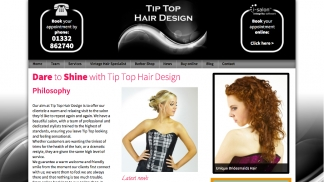 Redesign and revitalise salon website