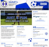 Football Club website design by Peter Bourne Communications