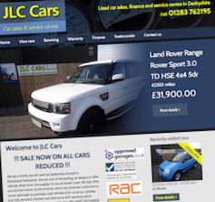 Bespoke Content Managed Garage Website - JLC Cars