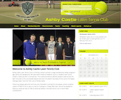 Ashby Castle Lawn Tennis Club - Bespoke Membership Website