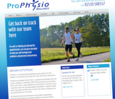 Website Design for ProPhysio Midlands - Ashby de la Zouch